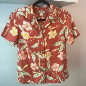 Tommy Bahamas 100% Silk Hawaiian Blouse 🏝
